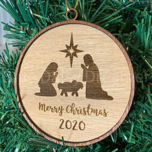 Wooden Nativity Ornament