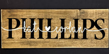 Load image into Gallery viewer, Personalized Sweetheart sign - Names and Heart Wooden sign