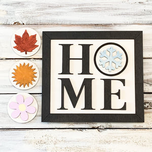 Wooden Home Interchangeable Sign