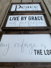 Load image into Gallery viewer, My Refuge is the Lord Wooden Sign