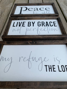 My Refuge is the Lord Wooden Sign