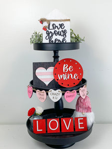 Valentine's Shelf Sitter or Tier Tray DIY kit