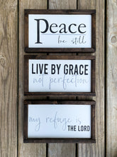 Load image into Gallery viewer, Live by Grace not Perfection Wooden Sign