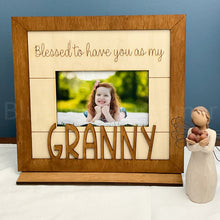 Load image into Gallery viewer, Blessed to have you as shiplap frame