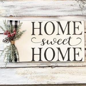 Winter Home Sweet Home wooden sign