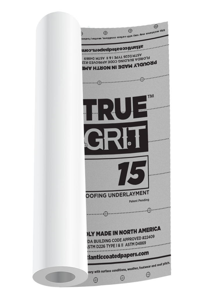 TRUE GRIT™ 15 ROOFING UNDERLAYMENT ($38.25/roll 56 roll pallet) *SOLD OUT