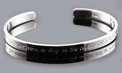 Personalised 6mm Sterling Silver Cuff Bangle