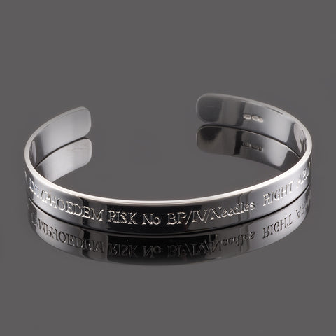Hand Engraved Times Bold Sterling Silver 8mm Cuff Bracelet