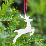Sterling Silver Hallmarked Reindeer Christmas Tree Decoration
