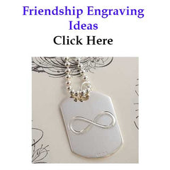 Friendship Engraving Expression Ideas