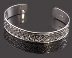 hand engraved celtic design cuff bangle handmade