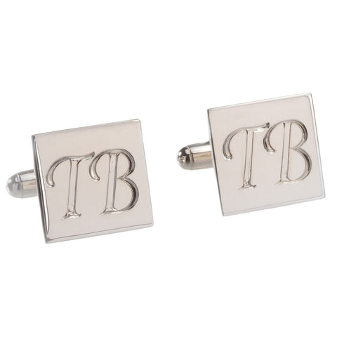 Le Griffe Style Hand Engraved Silver Cufflinks