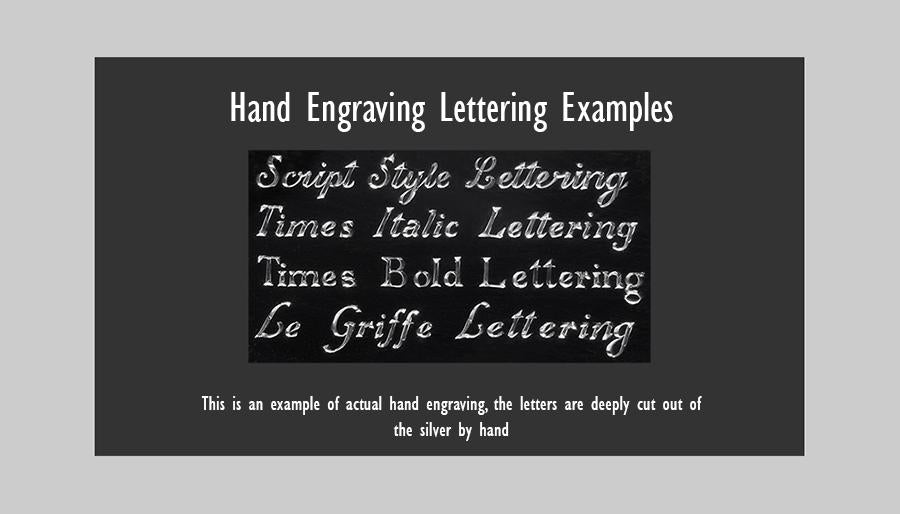 hand engraving lettering
