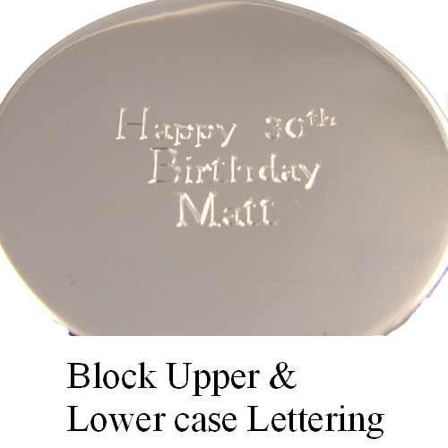 Sterling Silver 125g Marmite Lid Personalised Hand Engraved in block lettering