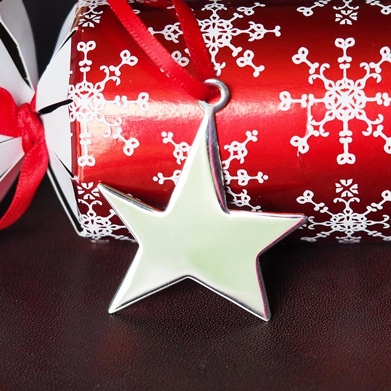 sterling silver christmas star tree decoration