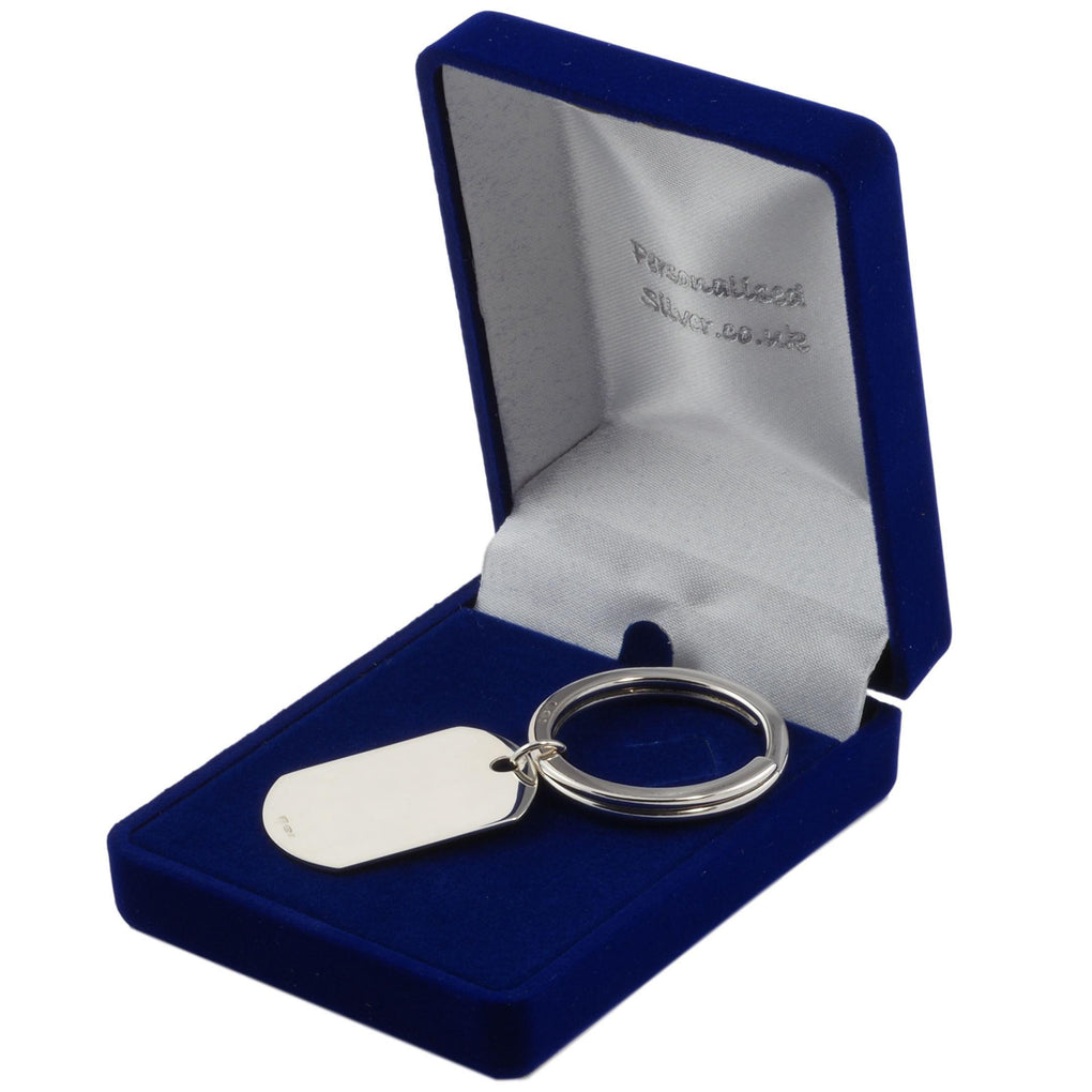 gift box for sterling silver heavy heart screw keyring