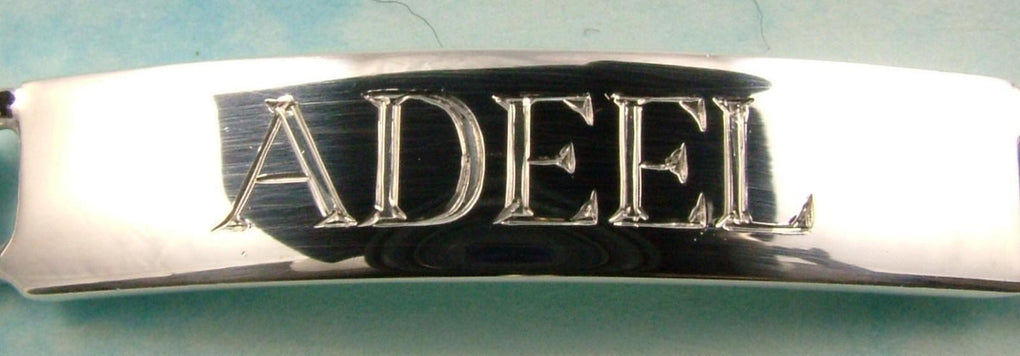 Sterling Silver Mens Identity Bracelet Hand Engraved Personalised - 3