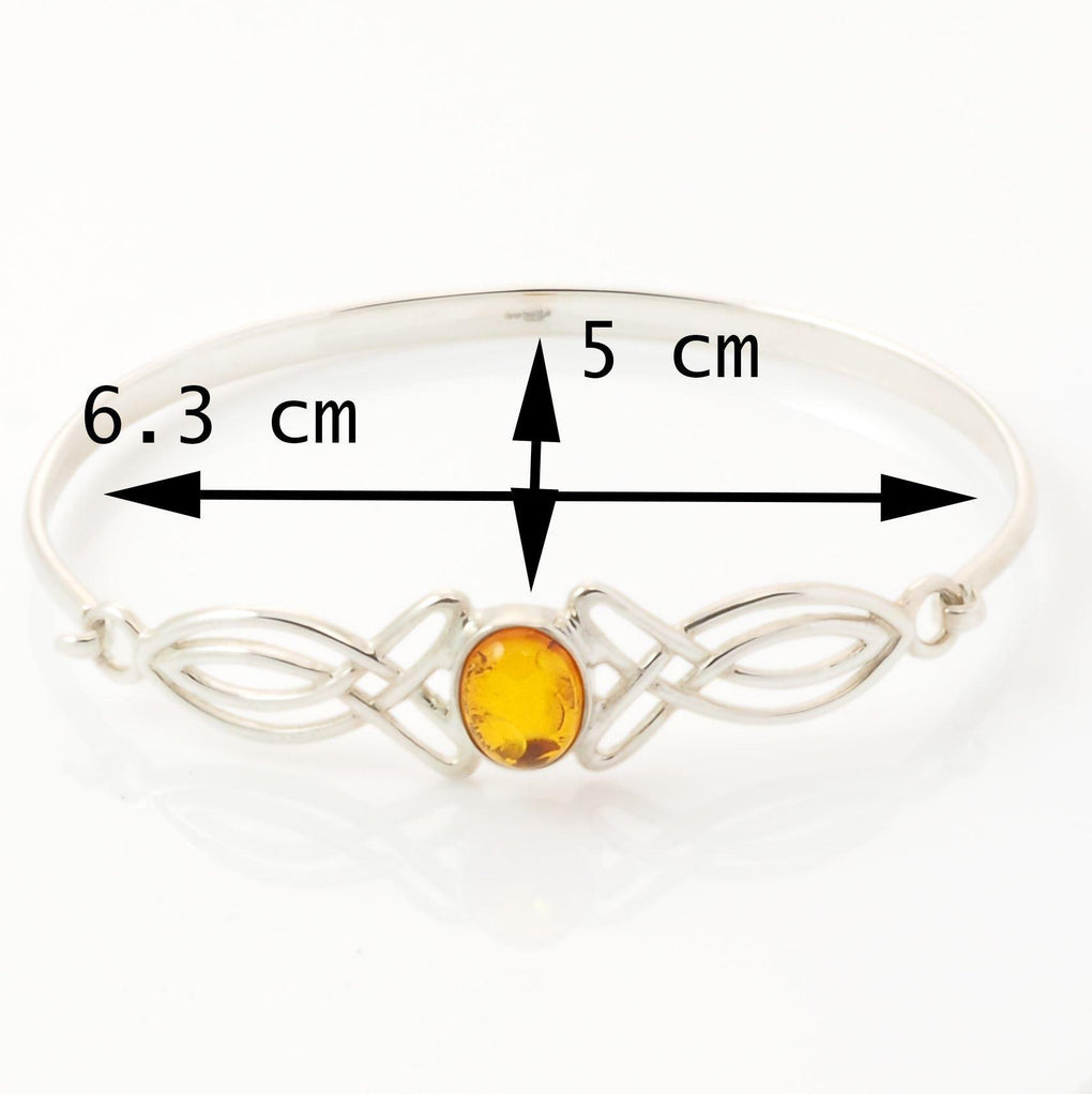 measurements of sterling silver amber bangle