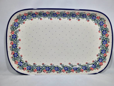 Tray ~ Shallow Rectangular ~ Large ~ Garden Party