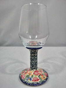 Wine Glass - Floral