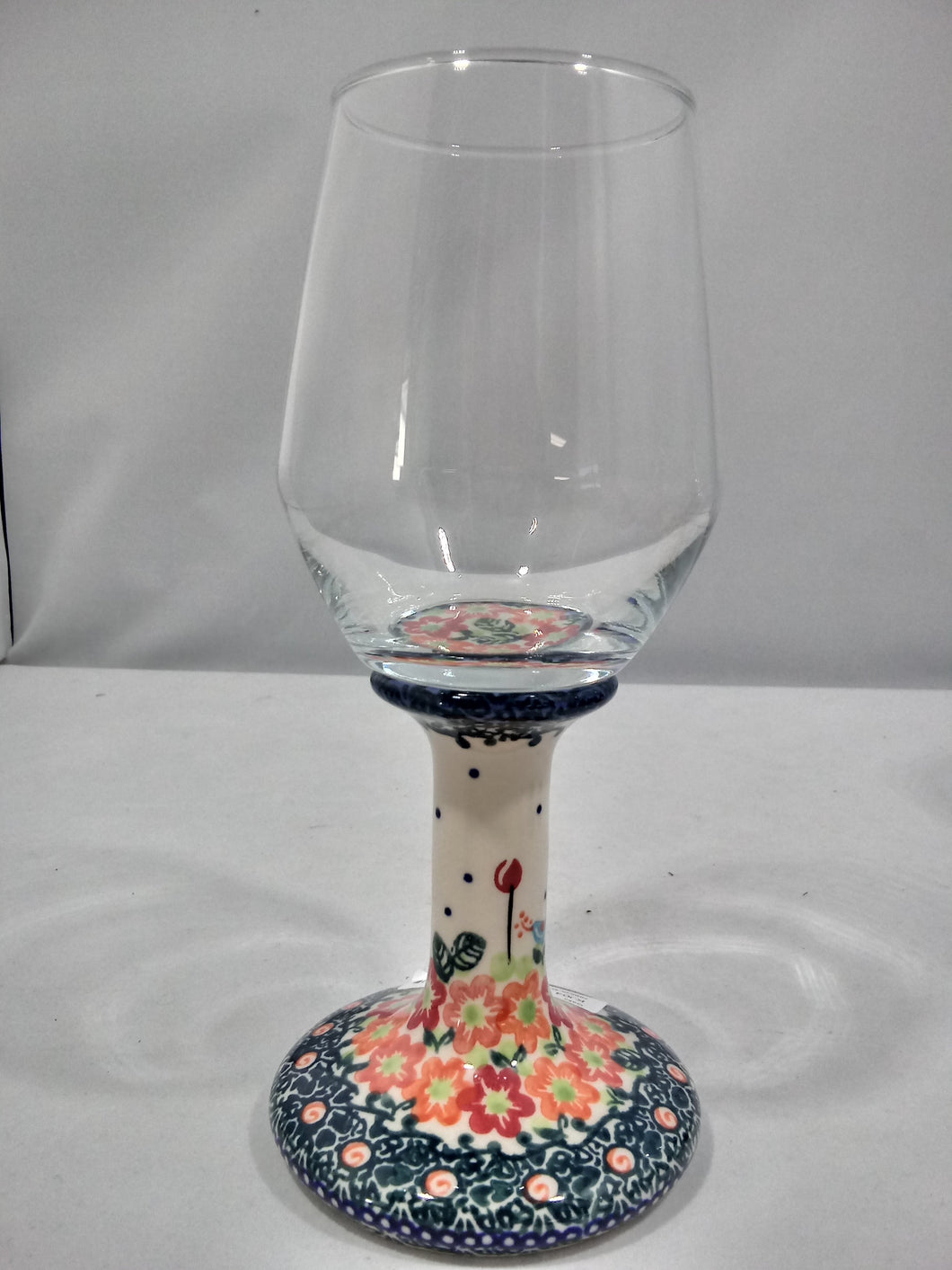 Wine Glass - Orange Butterfly