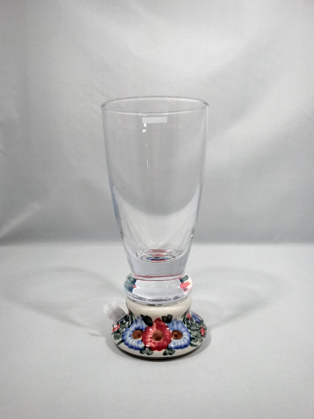 Short Glass Red Flower