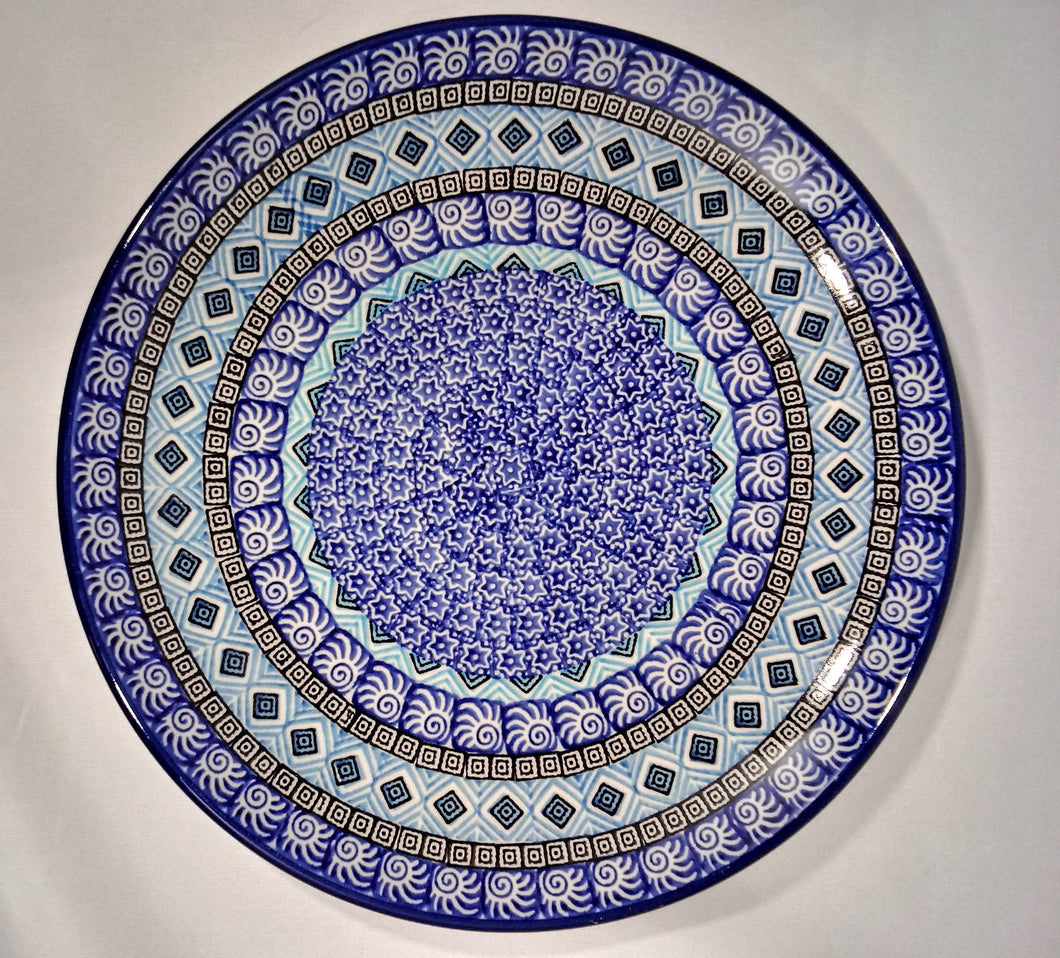 Plate ~ Dinner ~  10 inch ~ Blue Aztec