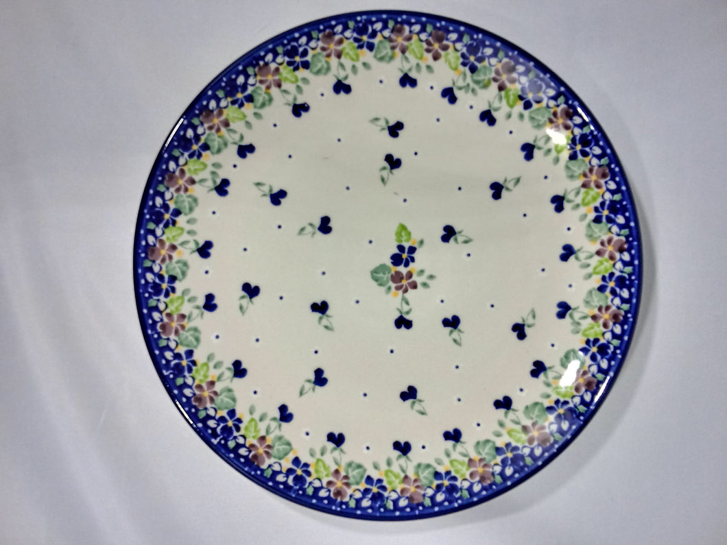 Plate ~ Dinner ~  10 inch ~ Purple Pansy
