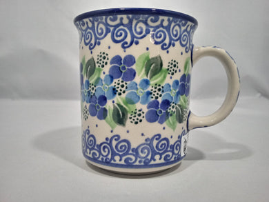 Mug ~ Straight Side ~ 8 oz ~ Blue Phlox
