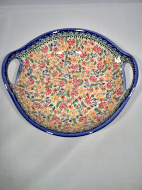 Medium Bowl with Handles - Floral