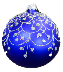 4 pack Blue Bauble Ornament in gift box