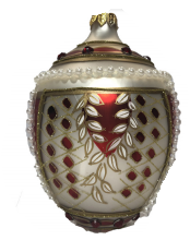 Golden Maroon Egg Ornament