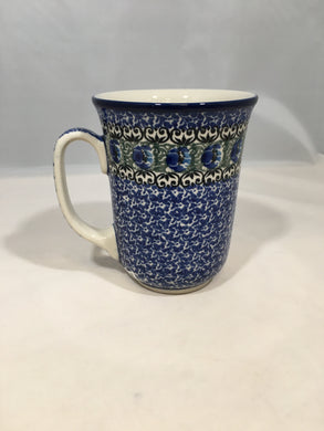 Mug ~ Bistro ~ 16 oz. ~ Peacock Feather