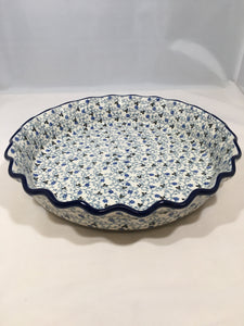 Pie Plate ~ Fluted ~ 10 inch ~ China Flower