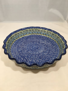 Pie Plate ~ Fluted ~ 10 inch ~ Tranquility