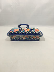 AN108- Butter Dish Spring Floral