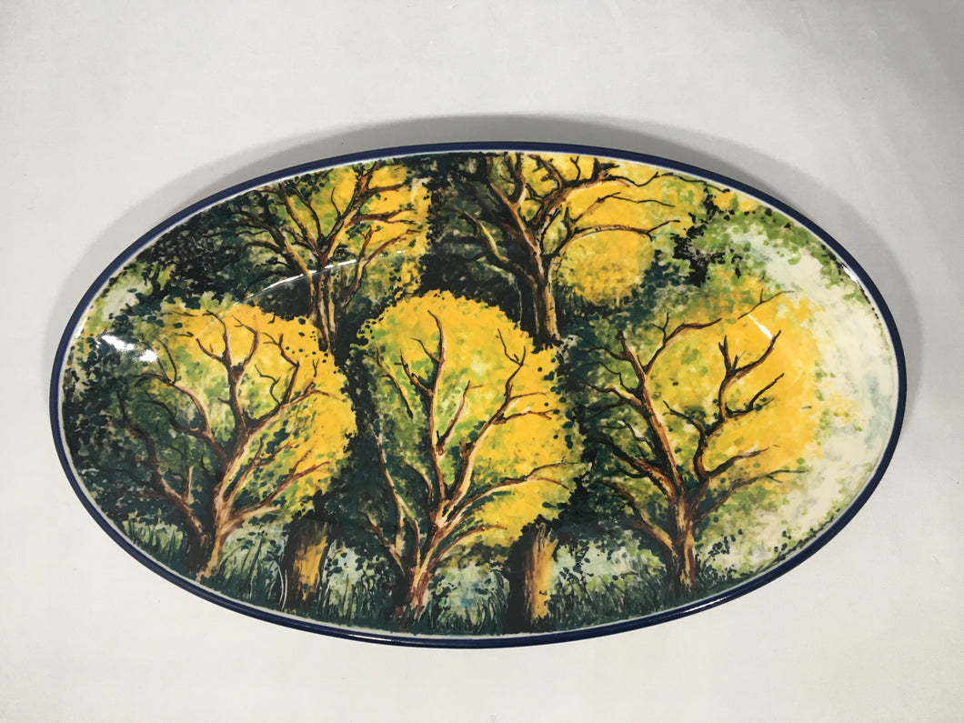 Limited Edition Oval Tray with Trees