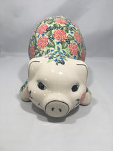 Load image into Gallery viewer, Large Piggy Bank- Red Rose