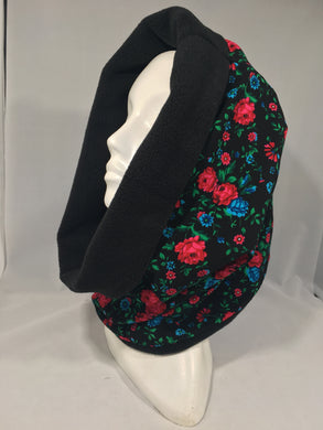 Neck Warmer Black with Roses