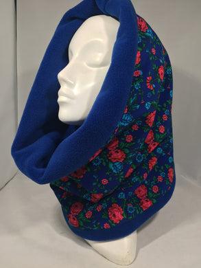 Neck Warmer Blue with Roses