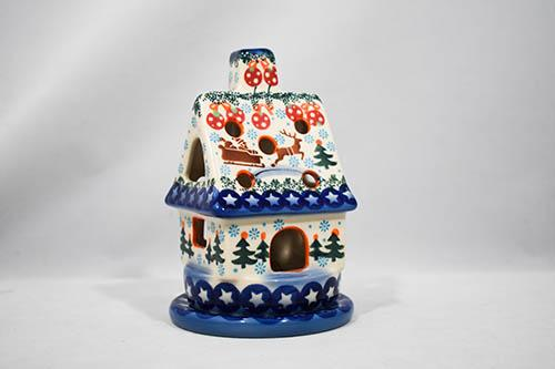 Decorative House for Votive Candle - Reindeer