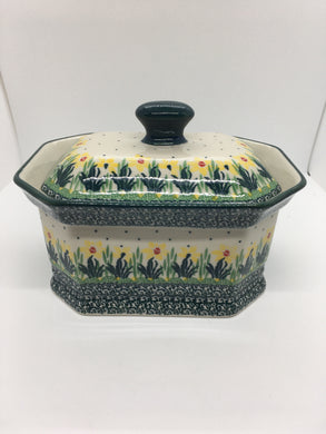 Covered Container ~ 5.5H x 6.25W x 8.25 L ~ Daffodil