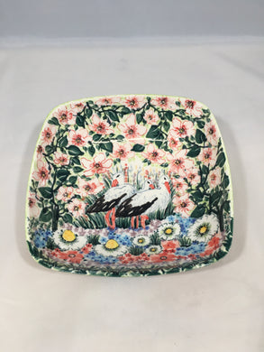 Malwa Medium Square Bowl Stork