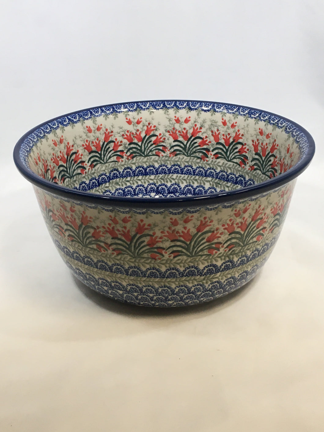 Bowl ~ Deep Mixing ~ 4 Qt. ~ Crimson Bell