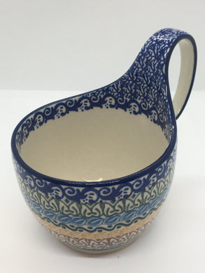 Bowl w/ Loop Handle ~ 16 oz ~ Blue Moon
