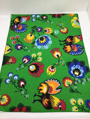 Single Placemat Green Rooster