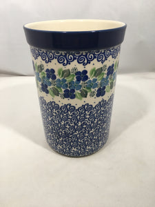 Wine/ Utensil Holder ~ 7.75 H ~ Blue Phlox