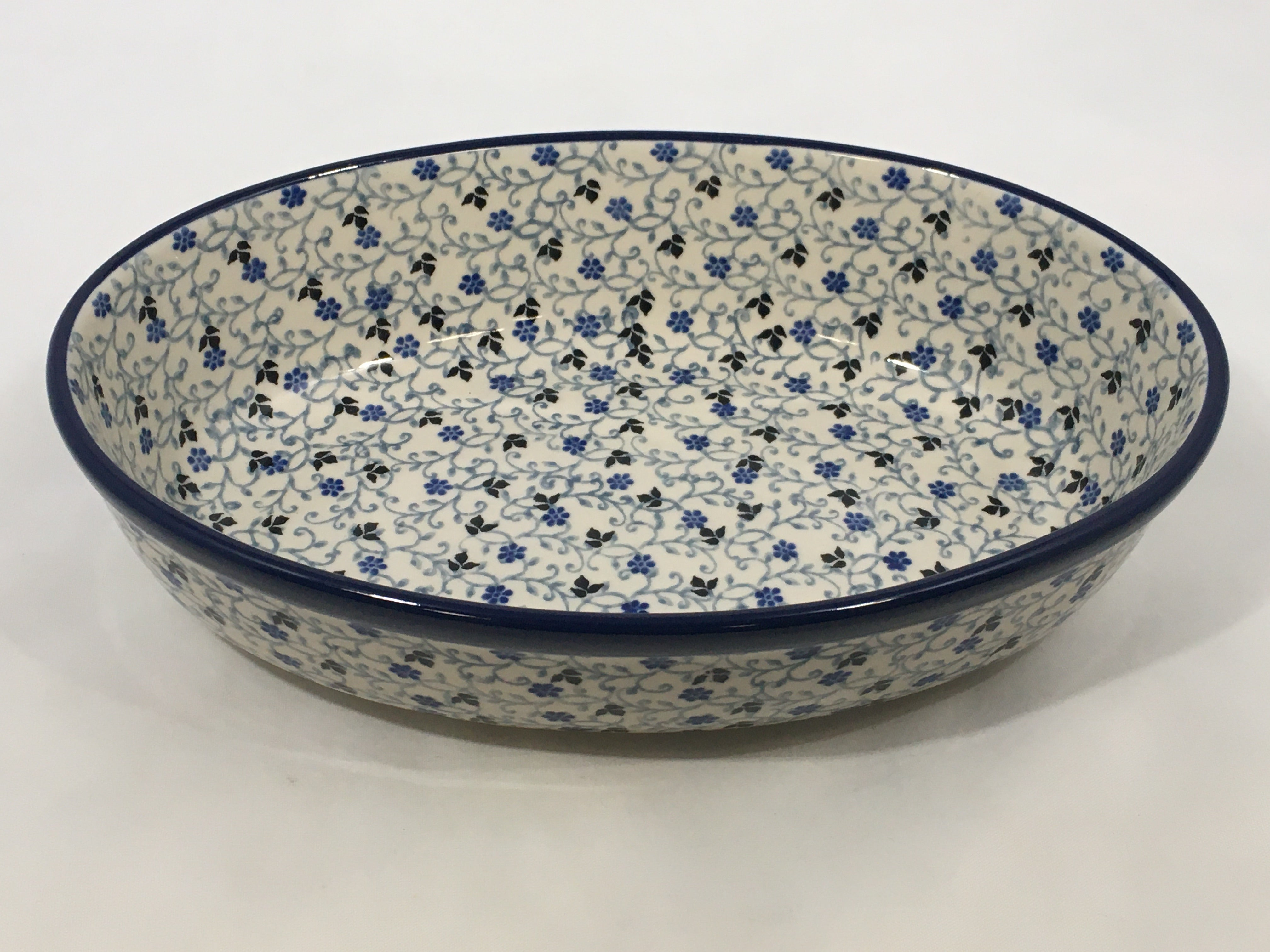 Baker Oval ~ 9.5 inch ~ China Flower