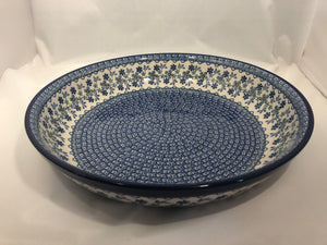 Bowl ~ Serving ~ 12.75W x 2.5D ~ Cool Blue