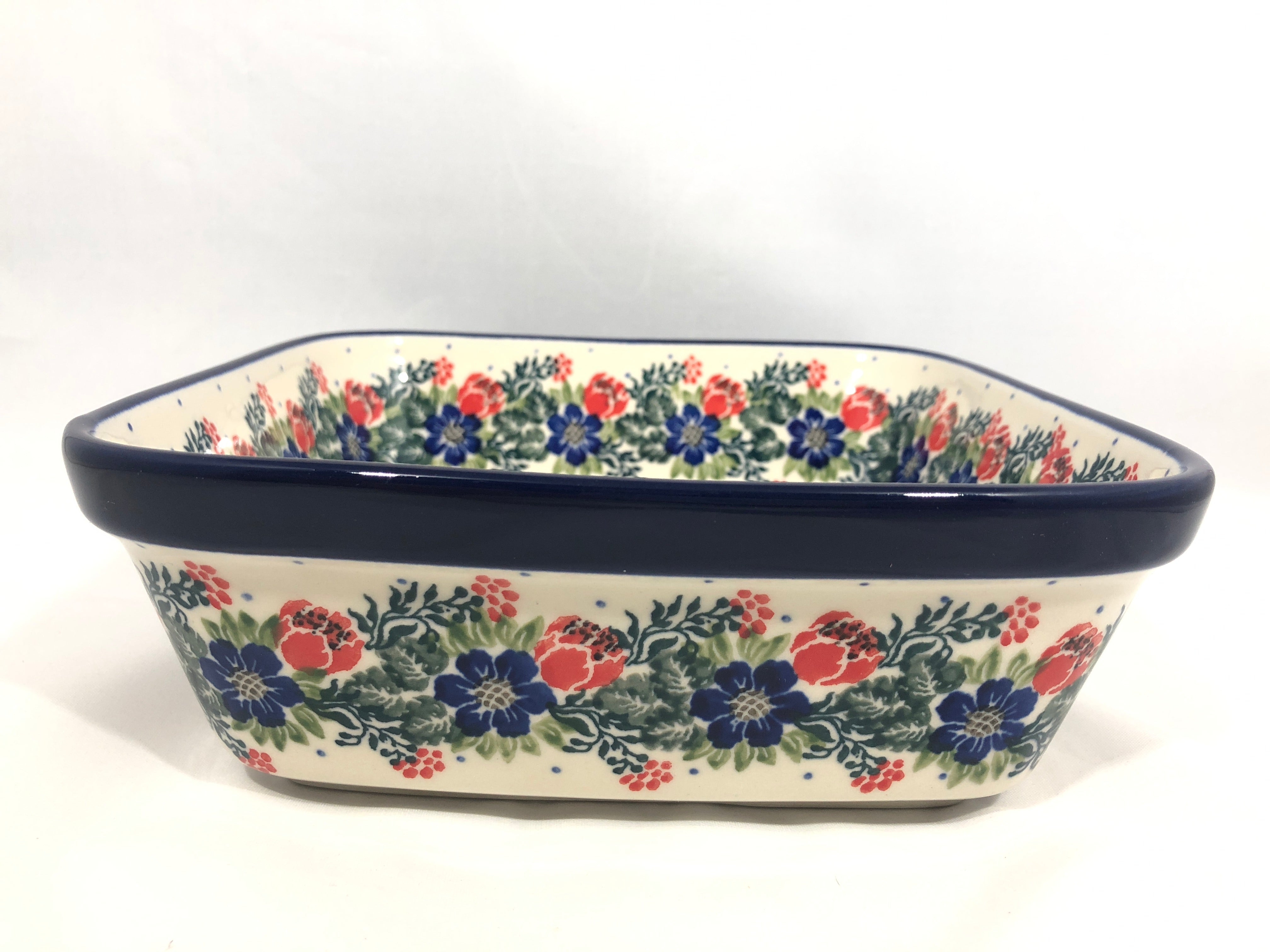 Baker ~ Square Deep Dish ~ 7.75 inch ~ Garden Party